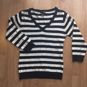 Mod striped H&M 3/4 sleeve sweater